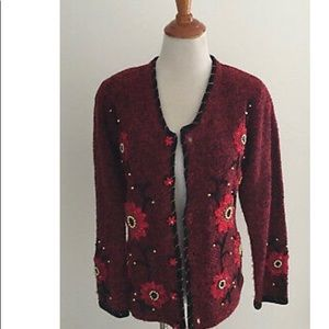 Berek Red Cardigan Sweater M